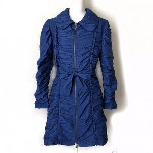Samuel Dong Ruched Trench Coat